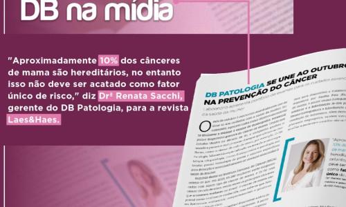 DB NA MÍDIA :: DB PATOLOGIA SE UNE AO OUTUBRO ROSA NA PREVENÇÃO DO CÂNCER