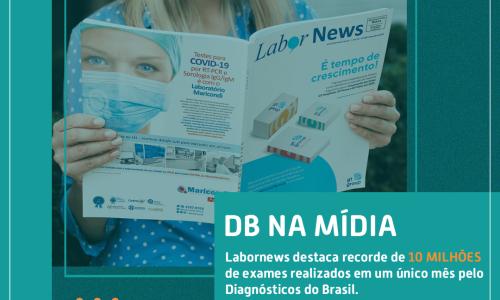 DIAGNÓSTICOS DO BRASIL MARCA 10 MILHÕES DE EXAMES EM UM ÚNICO MÊS
