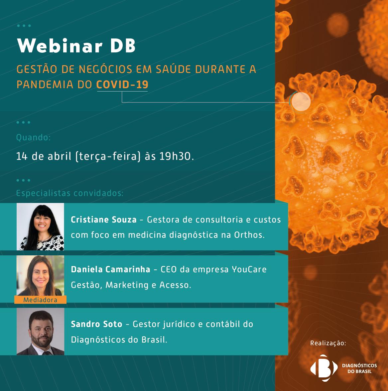 WEBINAR DB |Gestão de negócios em saúde durante a pandemia COVID-19 | Diagnósticos do Brasil