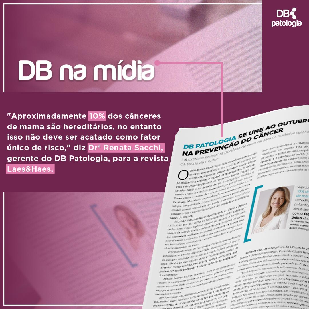 DB NA MÍDIA :: DB PATOLOGIA SE UNE AO OUTUBRO ROSA NA PREVENÇÃO DO CÂNCER | Diagnósticos do Brasil