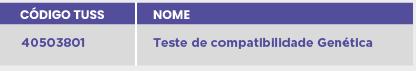 TESTE DE COMPATIBILIDADE GENÉTICA