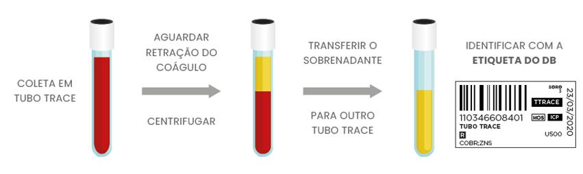 INSTRUÇÕES DE COLETA EM TUBO TRACE - SORO